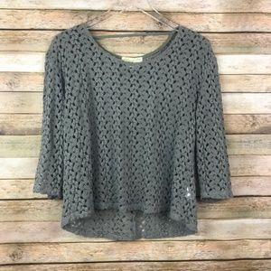Staring at Stars UO • Green Open Weave Crochet Top